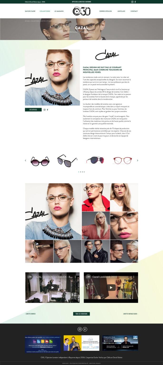 Créateur de lunettes opticien Bayonne - Webdesign création de site internet - Pays Basque