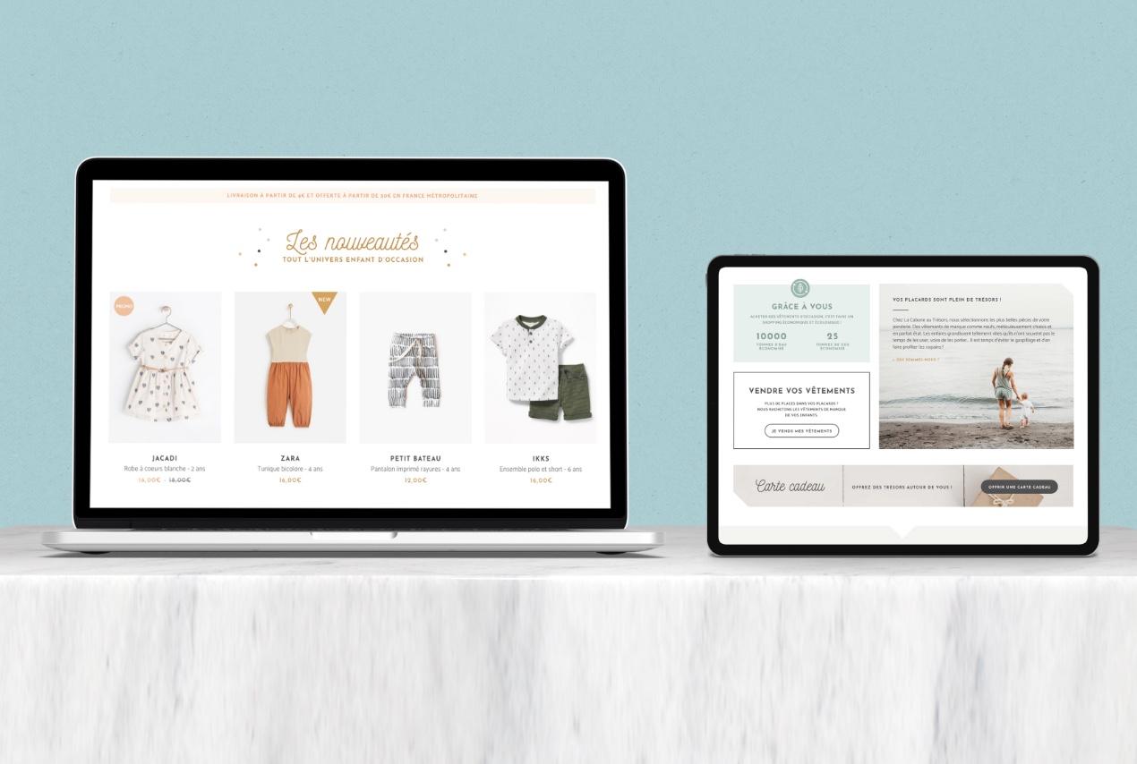 Création de site ecommerce, boutique en ligne , mode enfants