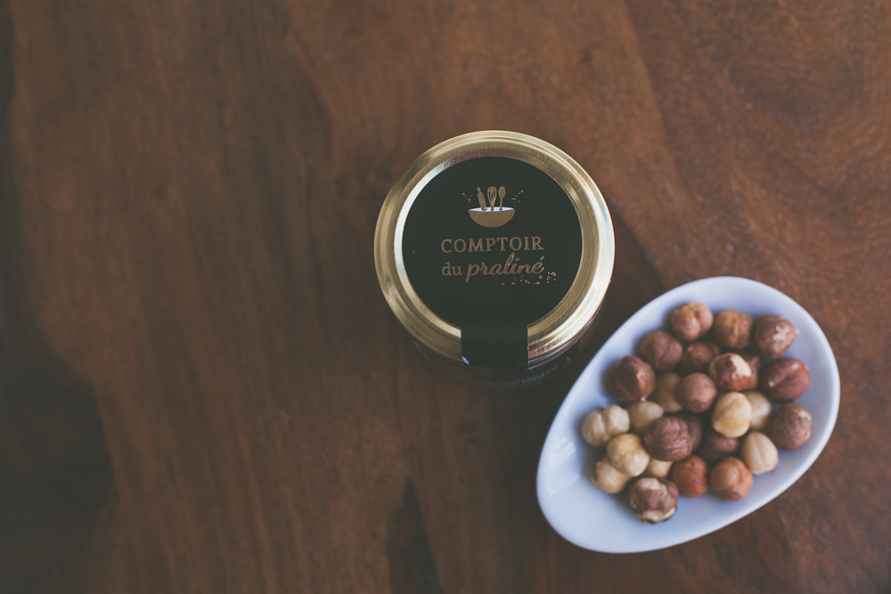 Packaging étiquette de pot Comptoir du praliné