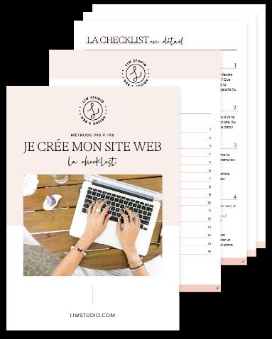 Créer son site web soi-même, création de site internet, guide pas à pas, checklist, workbook, guide gratuit, conseils web, webdesigner