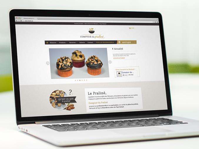 site internet pour artisan - Comptoir du praliné