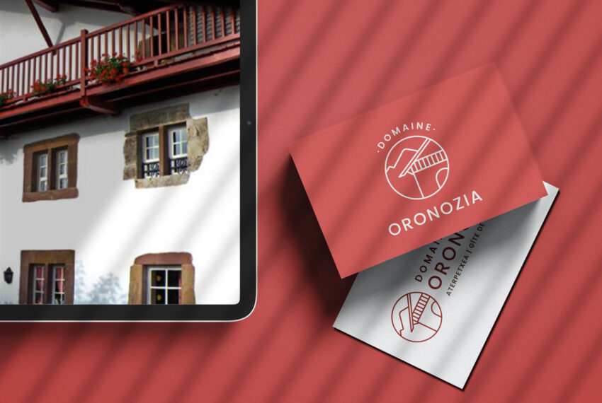 Création de logo et site internet pour gîte de groupe, hôtel, centre de vacances au Pays basque - identité visuelle