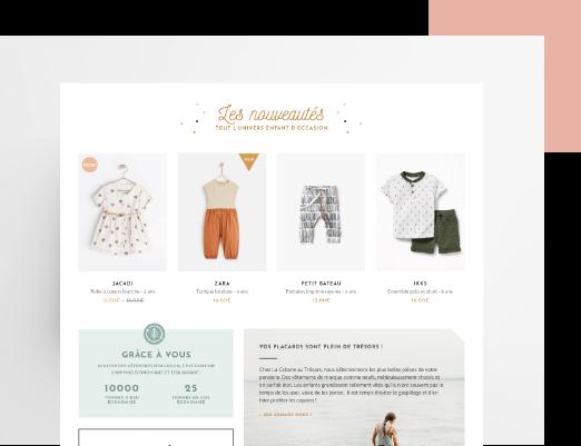 Création de site internet ecommerce - vetement pour enfants - site ecommerce boutique en ligne