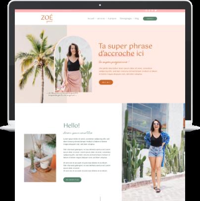 Template WordPress Elementor Zoé Sun pour coach et praticien bien-être - Liw studio