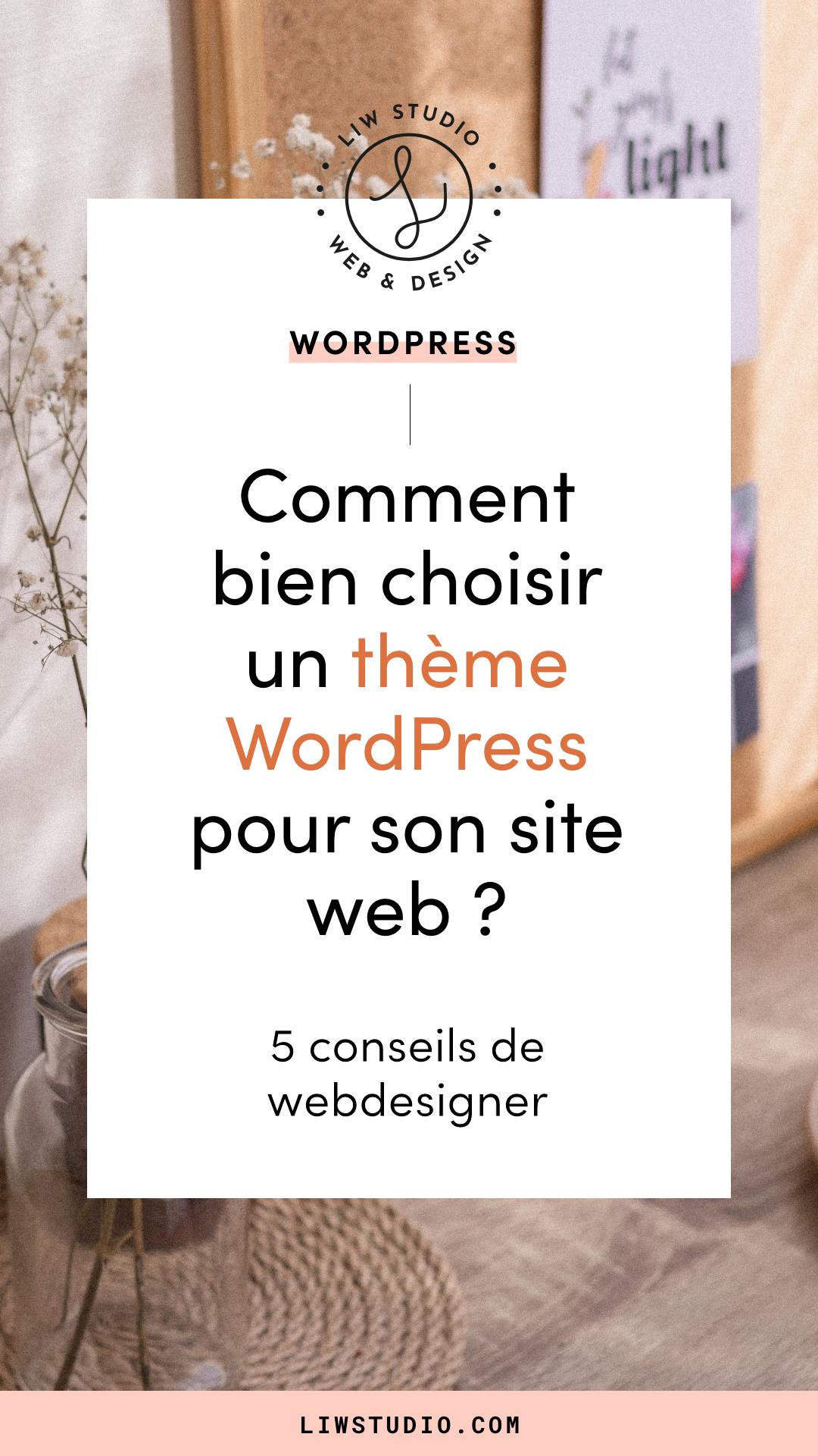 Comment bien choisir un thème WordPress pour son site internet ? Webdesigner Liw studio