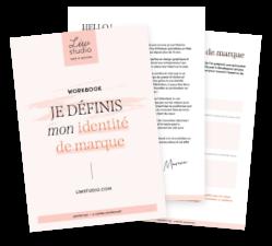 """Workbook gratuit """"je définis mon identité de marque"""" - création d'identité visuelle, créer sa marque"""